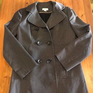 Ann Taylor LOFT black/white check spring  jacket